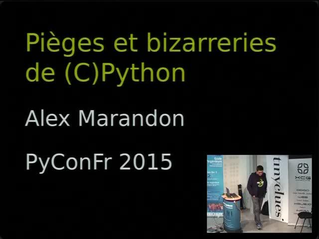 Image from Pièges et bizarreries de (C)Python