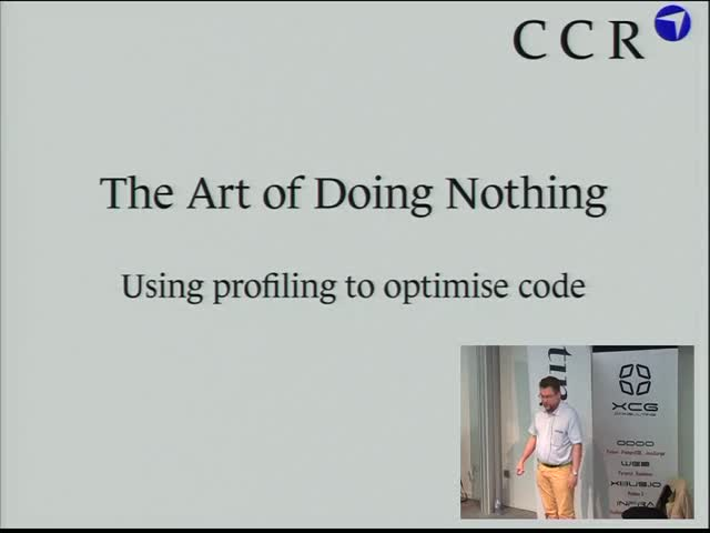 Image from The Art of Doing Nothing – Using profiling to speed up your code