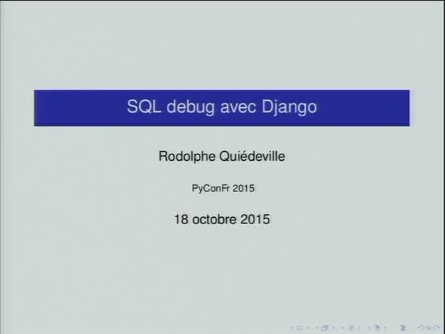 Image from SQL Debug avec Django