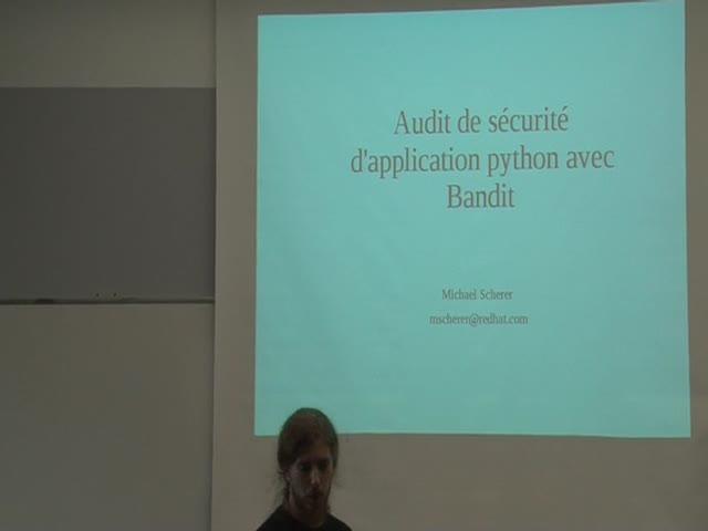 Image from Audit de sécurité d'application python avec Bandit